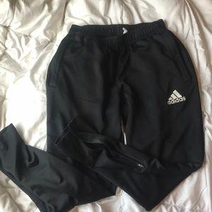 black adidas jogger zip sweats.